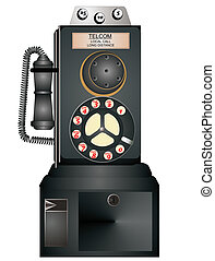 1940 Antique payphone - Antique payphone from the 1940's ...
