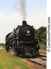1940\'s Steam Train - ABILENE, KS - MAY 31: This restored...