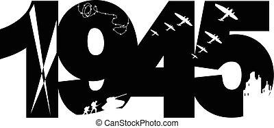 1945, vitória, dia