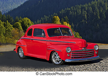 1947 Red Coupe