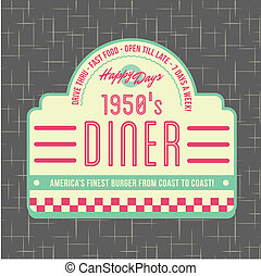 1950s Diner Style Logo Design - All fonts shown are for visual purposes only and freely availalble for open license use from sources such as google fonts.