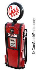 1950s gas pump - A 3d rendered red 1950\'s era gas pump