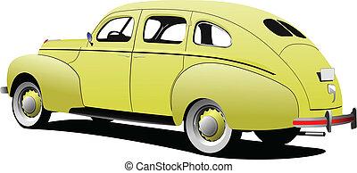 1950\'s Luxury Coupe on isolated ba