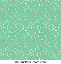 1950s Stars Pattern Background - Tileable and seamless...