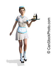 1950's Style Carhop Girl - !950's style carhop girl on...