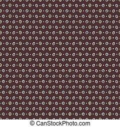 1950s Style Retro Daisy Polka Dot Stripes Seamless Vector Pattern