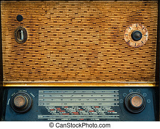 1950's vintage wireless radio background