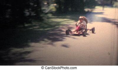 1958 - Boy Driving Gas Powered Go - Original vintage 8mm...