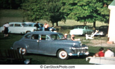 1958 - Family Reunion Farm House - Original vintage 8mm home...