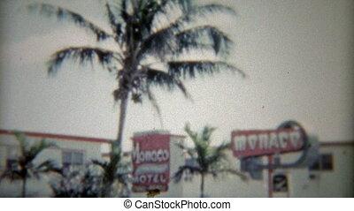 1959: Exterior shots of the Monaco - Vintage 8mm film home...