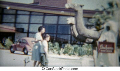 1959: Kid riding the camel at the - Vintage 8mm film home...