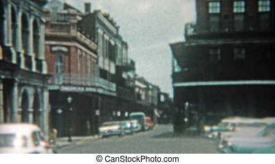 1959: New Orleans bourbon street - Classic vintage 8mm film...