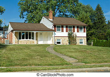 1960s Split Level Home Suburban Philadelphia - 1960's era...