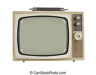 1960's, vendimia, televisión, portátil
