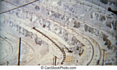 1963: Open pit mining operation - Classic vintage 8mm film...