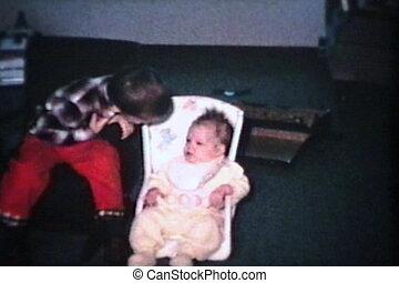 (1965), elle, siège, bébé, nouveau, girl