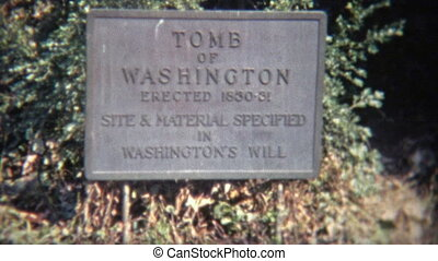 1968: Tomb of George Washington. - Original vintage 8mm film...