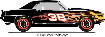 1969 Camaro Race Car with Flames