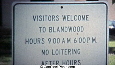 1971: Blandwood Mansion rules keep - Unique vintage 8mm film...