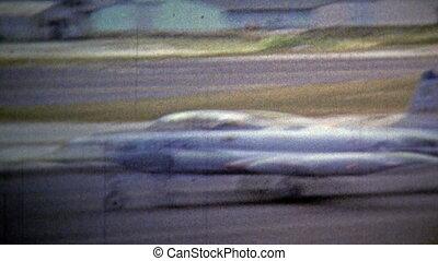1972: USA air force jet plane view - Unique vintage 8mm film...