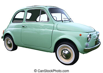 1973 Fiat 500F Bambino isolated with clipping path