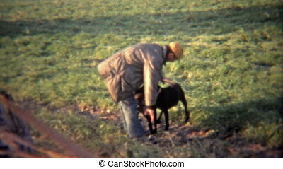 1973: Hunter rings geese neck after - Original vintage 8mm...
