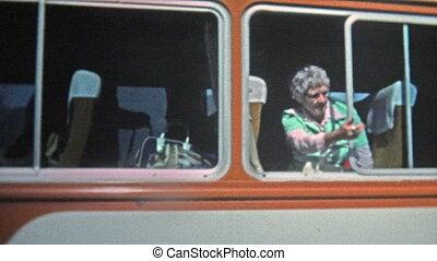 1973: Old women calling over - Unique vintage 8mm film home...
