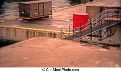 1974: Industrial seaport shipping - 100% unique vintage 8mm...