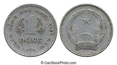 1976, socialista, uno, república, vietnam, dong