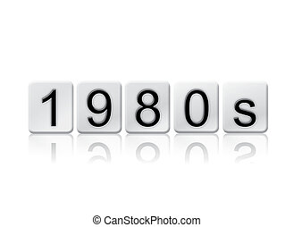 1980s Isolated Tiled Letters Concept and Theme