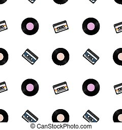 1980s retro seamless pattern. Vintage loopable background ...