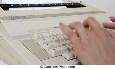 1980s, typewri, électrique, écriture