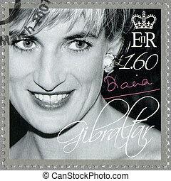 (1981-1997), :, 切手, -, 2007, diana, 捧げ物, ジブラルタル, ウェールズ, ∥ころ...