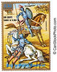 1984, :, Don, estampilla, guinea, -, Quixote, impreso,...