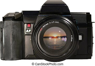 1985 SLR with sunset - An \\\'85 SLR with a sunset...