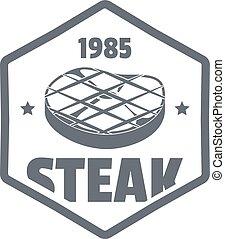 1985 steak logo, simple style