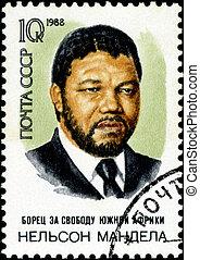 1988:, timbre, -, mandela, 1988, URSS, rolihlahla, Nelson,...