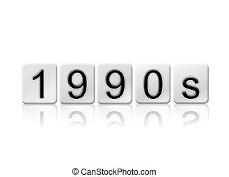 1990s Isolated Tiled Letters Concept and Theme