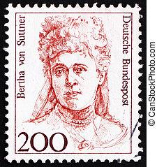 1991, 賞, 切手, -, ∥フォン∥, 平和, 勝者, nobel, bertha, 1991:, ドイツ, ...