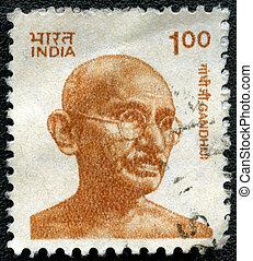 1991, serie, francobollo, india, 1991:, -, india, gandhi, ...