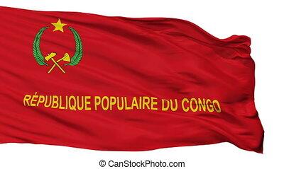 1992, armée, isolé, 1970, drapeau, congo, seamless, boucle