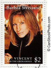 1993, :, streisand, ショー, 切手, st. 。, -, 歌手, barbra, 印刷される, ...