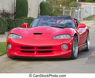 1995 Red American Sport Car 6