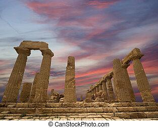 1997, 寺院, 古代, (v-vi, juno, 区域, 世紀, リスト, サイト, sicily., ギリシャ語,...
