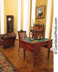 19th Century vintage interior with furniture