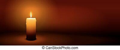 1ero, domingo, de, advenimiento, -, primero, vela, -, candlelight, panorama, bandera