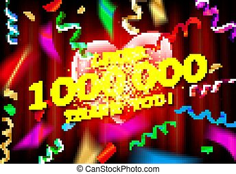 1M or 1 Million likes thank you Gold balloons and colorful ...