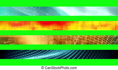1n, troisième, inférieur, écran, vert