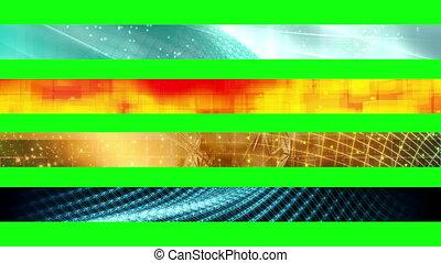 1n, trzeci, niższy, ekran, zielony