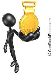 1o lugar, medalha ouro